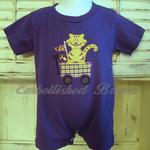 Tiger Wagon Applique Romper